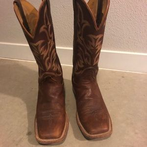 Brown Justin Boots, worn once